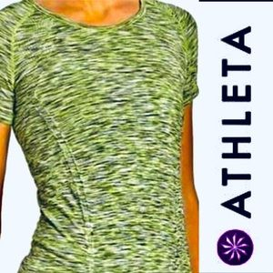 Athleta Fast Track Short Sleeve Ruched Tee